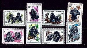 Rwanda 359-66 MNH 1970 Gorillas