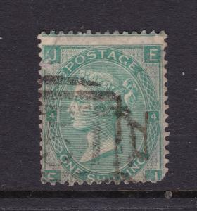 Great Britain a QV 1/- used plate 4 from 1865