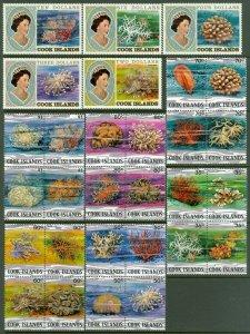EDW1949SELL : COOK ISLANDS 1980-82 Sc #564-86 Marine Life Cplt set VFMNH Cat $93