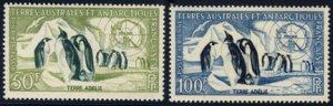 Scott #C1-2 Penguins & Map MNH