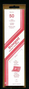 CLEAR Showgard Strip Mounts Size 50 = 50mm Fresh New Stock Unopened CLEAR