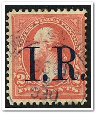 R155a 2 Internal Revenue Stamp 1898 Date Cancelled HipStamp