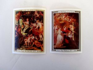 Central Africa & Niger, Peter Paul Rubens S/S Mint N/H Niger #431 & CA #322
