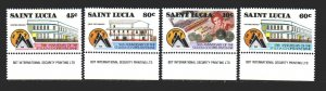 St Lucia. 1988. 917-20. Cooperative Bank, coins, banknotes. MNH.