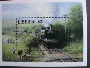 LIBERIA- LOCO MOTIVES-THE 1941 TRAIN-S/S MNH-VERY FINE WE SHIP TO WORLD WIDE