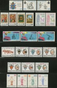 VATICAN Sc#645-667 Six Sets 1979 Year Complete Mint OG NH