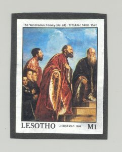 Lesotho #690 Art, Titian 1v Imperf Proof on Black Construction Paper