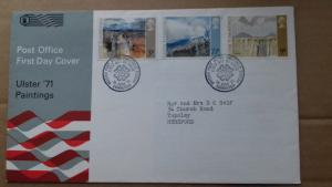 Great Britain FDC 1971 Ulster Paintings