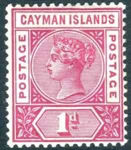 CAYMAN ISLANDS-1900 1d Rose-Carmine Sg 2 MOUNTED MINT V14942