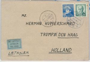 62475 - Czechoslovakia - POSTAL HISTORY - COVER to HOLLAND 1945: TEMPORARY STAMP