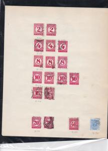 hungary early stamps sheet ref 18136