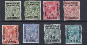 MOROCCO AGENCIES  1924 - 26    S G 128 - 135  SET OF 8      MH