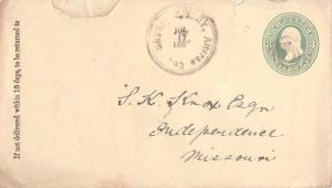 United States Idaho Hailey Alturas Co. 1885 double rim, target  Postal Statio...