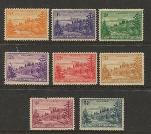 STAMP STATION PERTH Norfolk Is. #1-8 Ball Bay Issue MH/MNG CV$6.00.