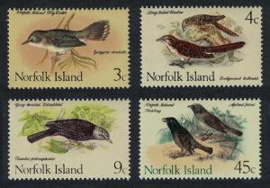 Norfolk Flyeater Koels Thrush Starlings Birds 4v issue Feb 1970 SG#105=115