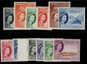 SOMALILAND PROTECTORATE QEII SG137-148, complete set, M MINT. Cat £120.