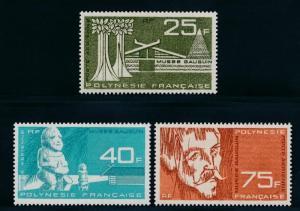 French Polynesia C34-36 Mint NH, Art, Gaugin