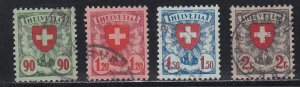 Switzerland # 200-203, Red Cross in Shield, Used Set, 1/2 Cat.