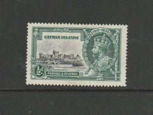 Cayman Island 1935 Silver Jubilee Variety DOT TO LEFT OF FLAG, Note this is NOT