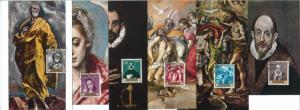 68892 - SPAIN - Set of 10 MAXIMUM CARDS 1961 - ART  El Greco