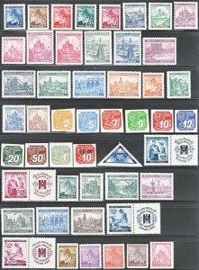 Stamp Germany Bohemia Czechoslovakia Mi 020-142 Dienst 1-24 Porto 1-15 WWII MH
