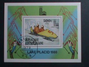 CENTRAL AFRICA-1979 OLYMPIC GAMES LAKE PLACID'80- CTO S/S VERY FINE