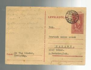 1943 Ipolysag Ghetto Hungary  censored Postcard Cover to Germany Judaica