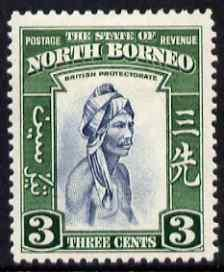 North Borneo 1939 Native 3c (from def set) lightly mounte...