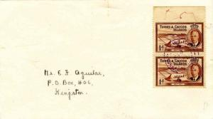Turks & Caicos Is. 1d KGVI Salt Cay (2) 1947 Salt Cay, Turks Islands violet c...