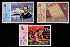 British Antarctic Territory Scott 68-70 MNH** 1977 set