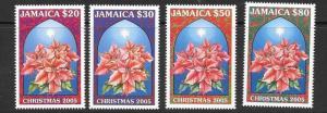 JAMAICA SG1100/3 2005 CHRISTMAS MNH