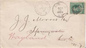 United States New York Geneseo 1889 segmented cork  2c Green Washington Bankn...