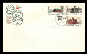 Canada-Sc#1123-5-stamps on FDC-Capex '87-1987-