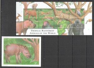 Z0175 GUYANA WILD ANIMALS OF THE WORLD TROPICAL RAINFOREST FAUNA KB+BL MNH