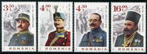 HERRICKSTAMP NEW ISSUES ROMANIA Sc.# 6038-41 World War I Heroes