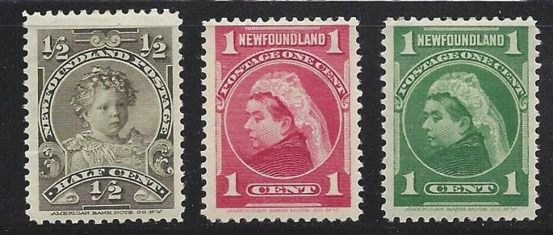 Newfoundland #78 79 80