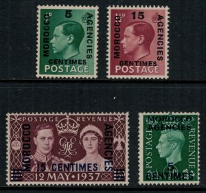 Great Britain-Offices in Morocco #437-40*  CV $3.35