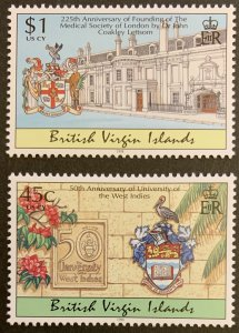 British Virgin Islands 1998 #900, 902 MNH. Culture