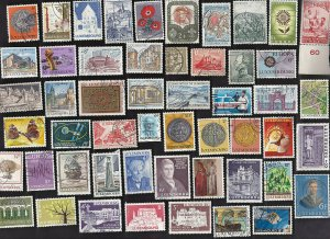 150 All Different LUXEMBOURG Pics & Comms  Stamps