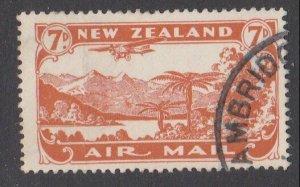 NEW ZEALAND 1931 7d airmail fine used - ACS cat NZ$30.......................M423