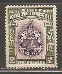 North Borneo  SC 221  Mint  Hinged