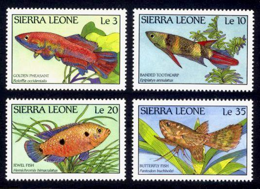 Sierra Leone MNH 959-62 Fish Marine Life 1988 SCV 3.00