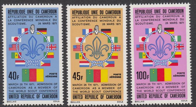 Cameroun C202-C204 Scouts on Stamps MNH CV $5.50