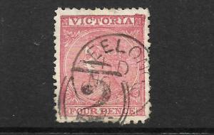 VICTORIA  1863-74  4d     QV     FU     SG 110