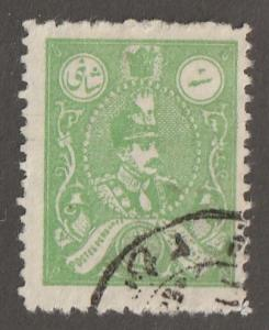 Persian stamp, Scott# 742, used hinged, 3c emerald color, L-120