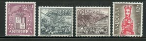 [SOLD] ANDORRA SPANISH SCOTT# 54-57 MINT NEVER HINGED AS SHOWN CATALOGUE VALUE $