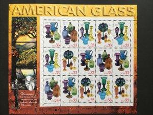 1999 sheet American Glass Sc# 3325-3328