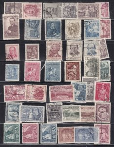 CZECHOSLOVAKIA ^^^^OLDER 1950's  LARGE used collection   $$@ta100cza100