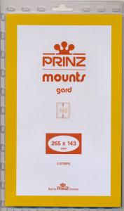 Prinz SCOTT Stamp Mount 265/143 BLACK Background Pack of 5