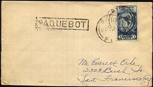 FIJI 1934 cover USA 3c Antarctic SUVA cds & PAQUEBOT.......................19386